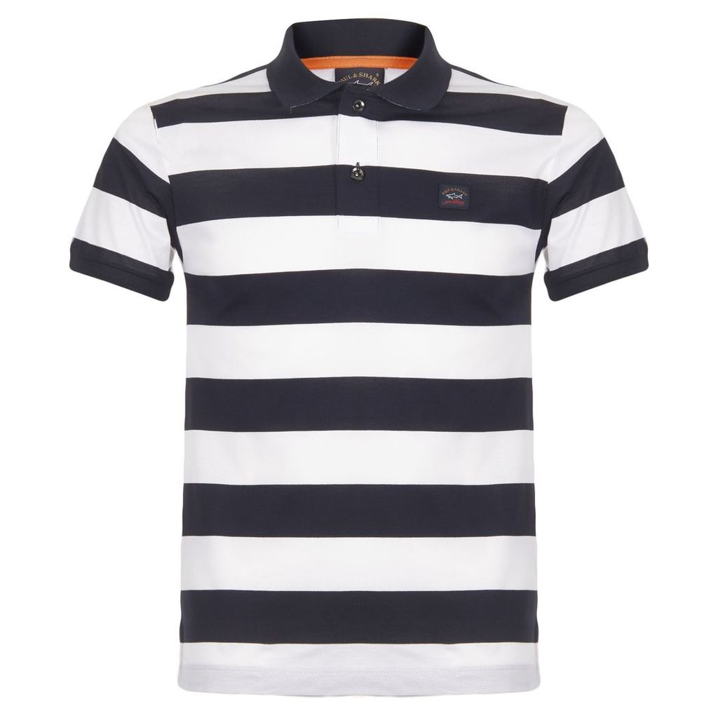 Paul and Shark Navy Stripes Polo Shirt E17P1242SF 154