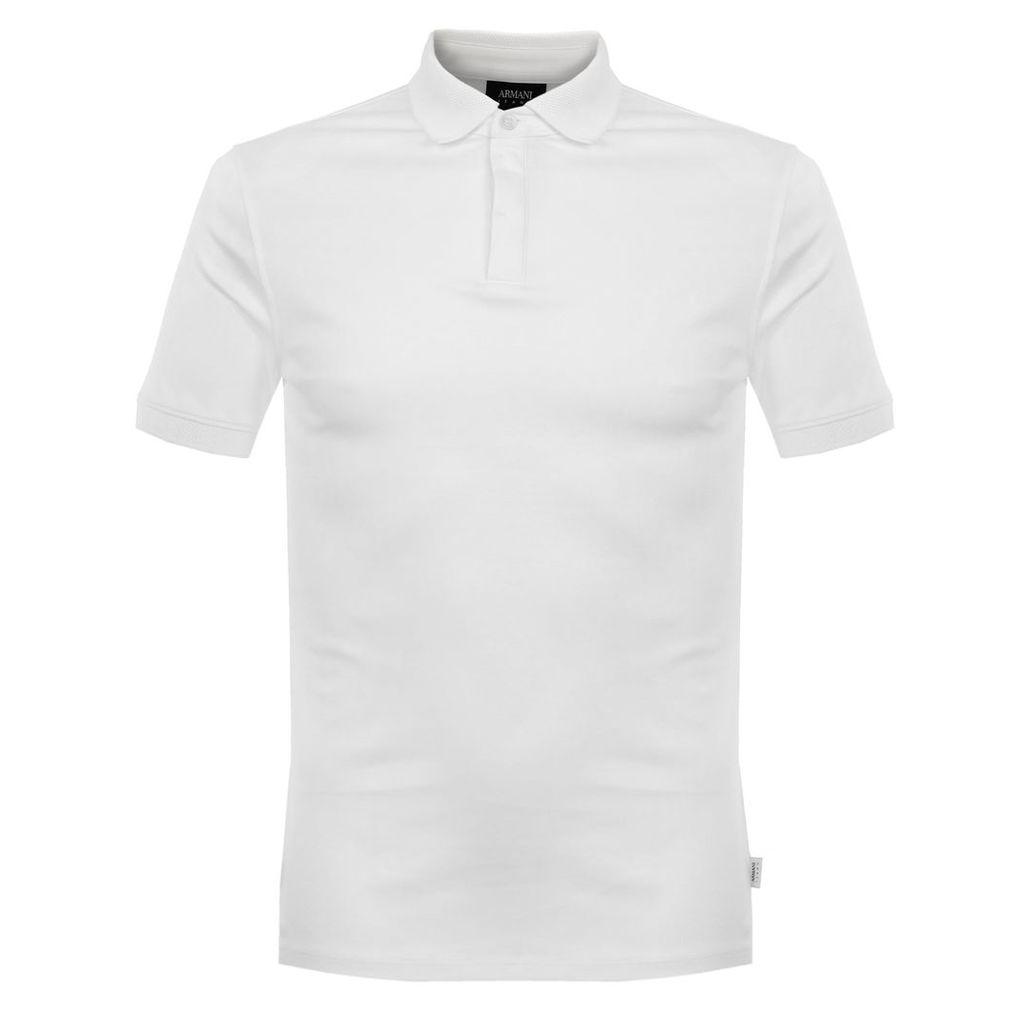 Armani Jeans Notte White Polo Shirt 3Y6F28