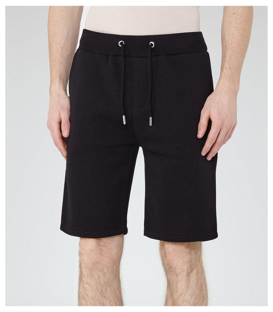 REISS Alvin - Mens Jersey Shorts in Blue
