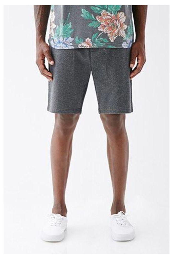 Speckled Zip-Pocket Sweatshorts