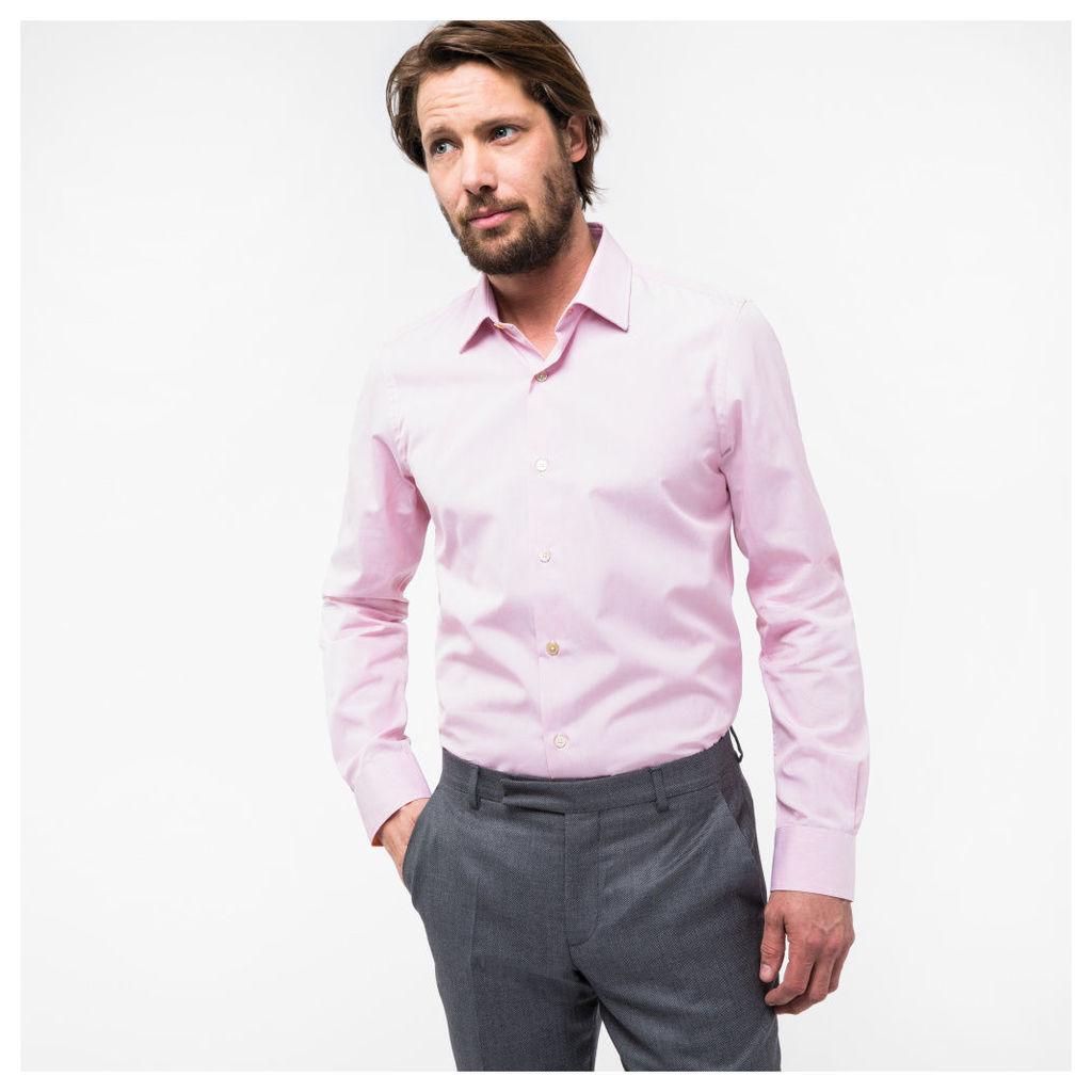 Men's Tailored-Fit Pink Cotton 'Artist Stripe' Cuff Shirt