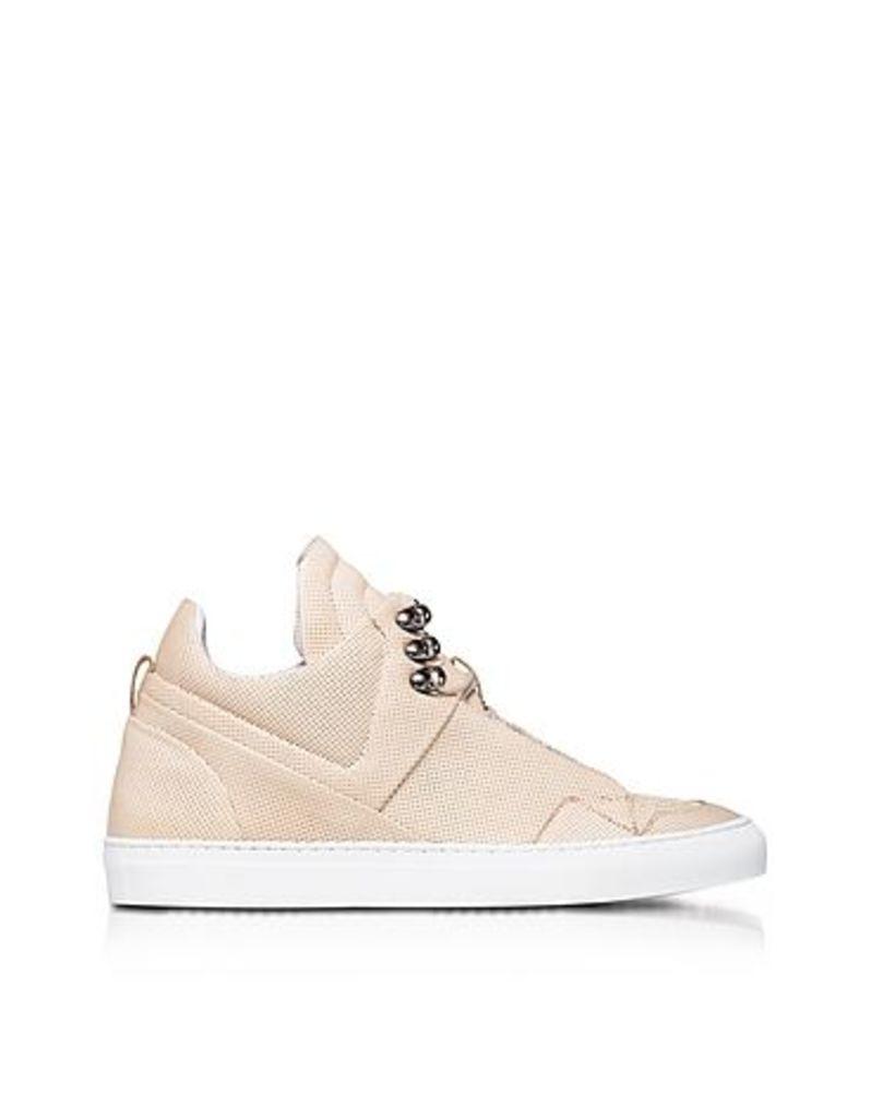 Ylati - Poseidon Crust Perforated Leather High Top Men's Sneakers