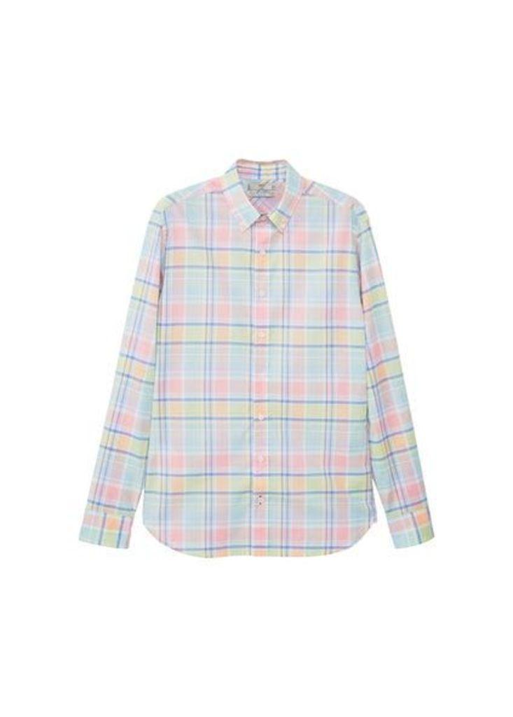 Slim-fit check cotton shirt