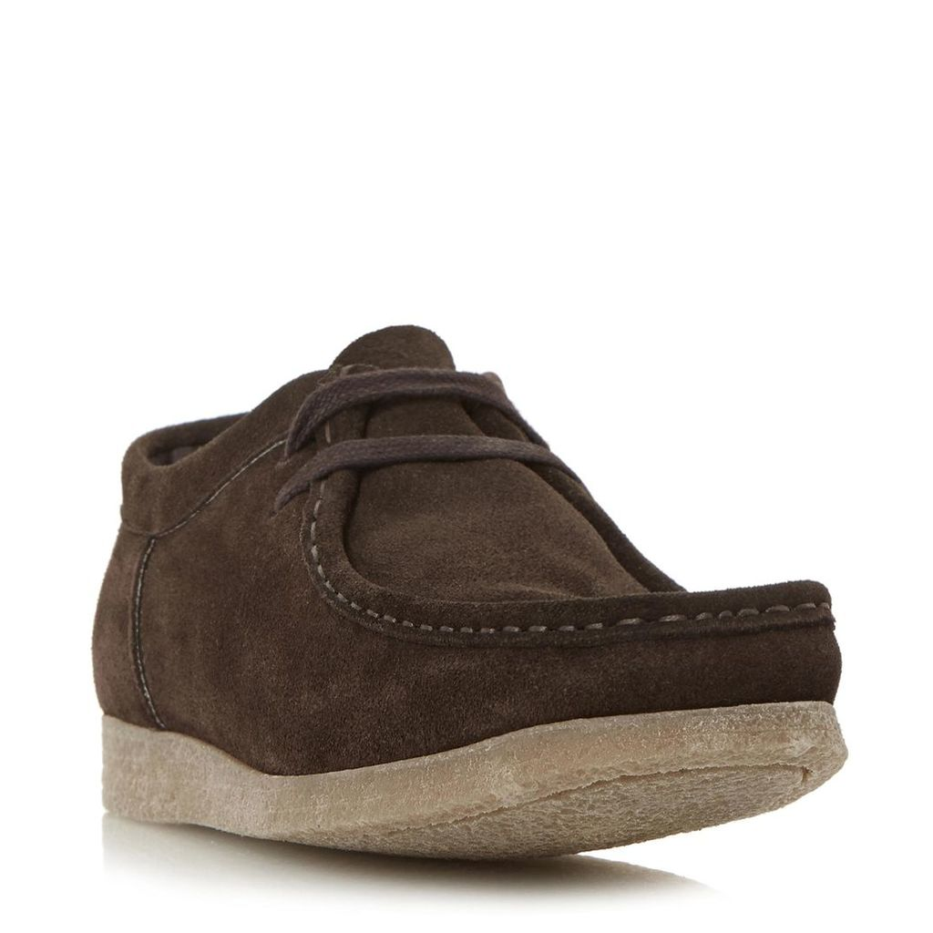 Boomer Square Toe Suede Lace Up Shoe
