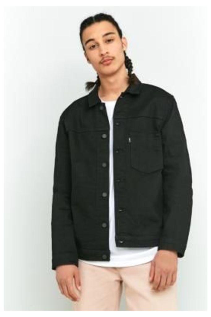 Levi's L8 Either Or Black Trucker Jacket, BLACK