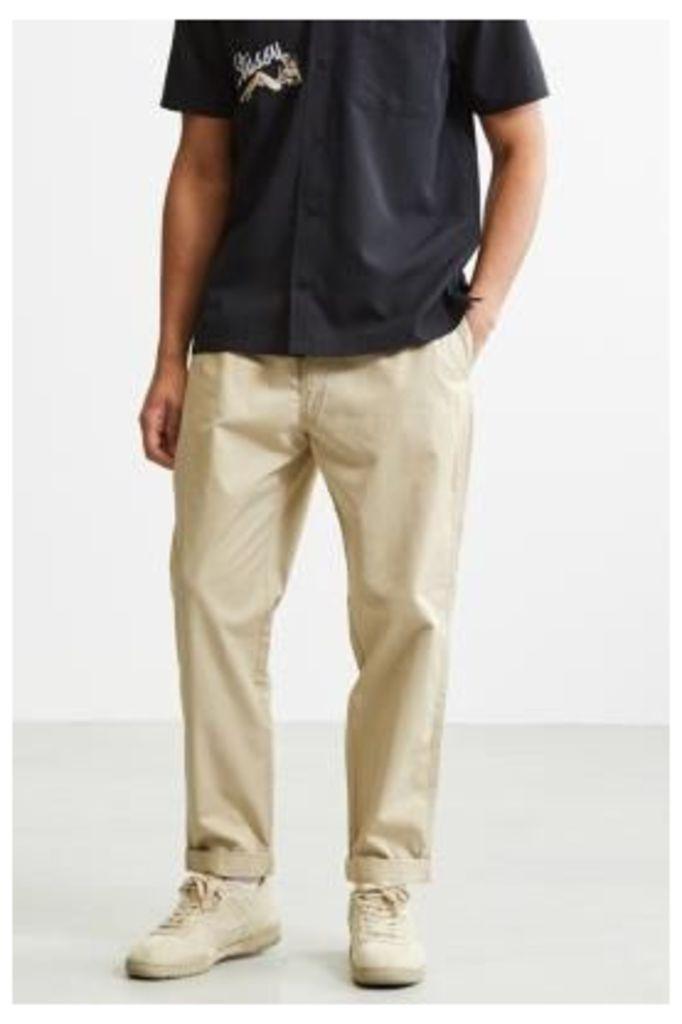 UO Parker Elastic Waist Cream Trousers, NEUTRAL