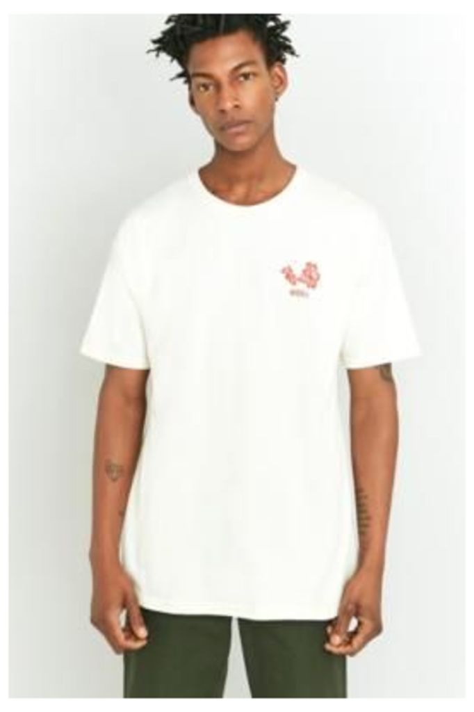 Obey Natural Flower T-shirt, IVORY