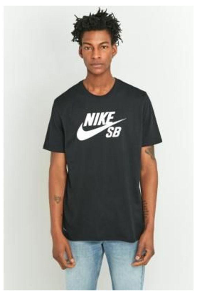 Nike SB Black Logo T-shirt, BLACK