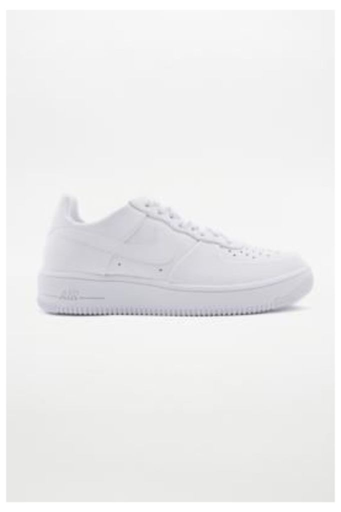 Nike Air Force 1 Ultra Force White Leather Trainers, WHITE