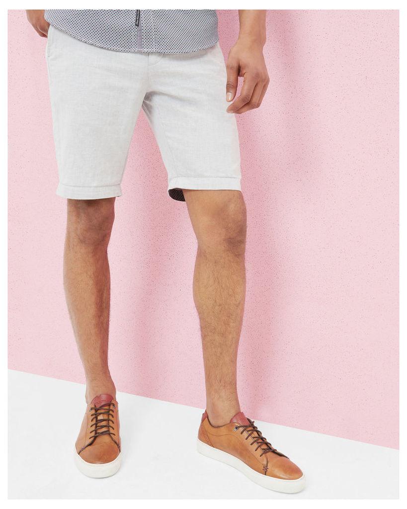 Ted Baker Cotton and linen-blend shorts Light Grey