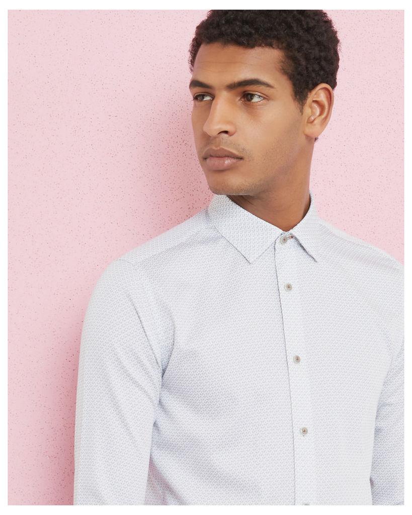 Ted Baker Diamond pattern cotton shirt White