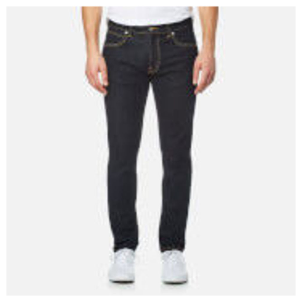 Edwin Men's ED-85 Slim Tapered Drop Crotch Red Listed Selvedge Denim Jeans - Rinsed - W36/L34