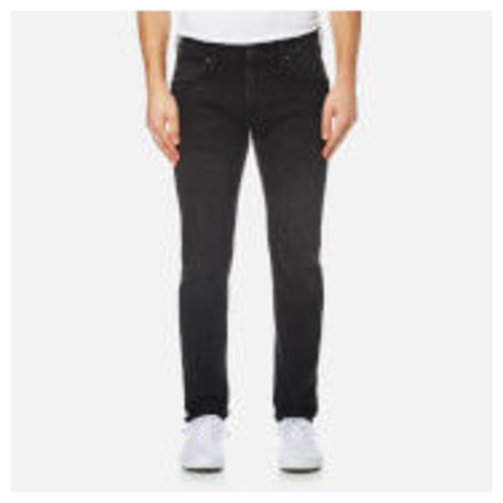 Edwin Men's ED-85 Slim Tapered Drop Crotch White Listed Selvedge Denim Jeans - Belmont Wash - W36/L34