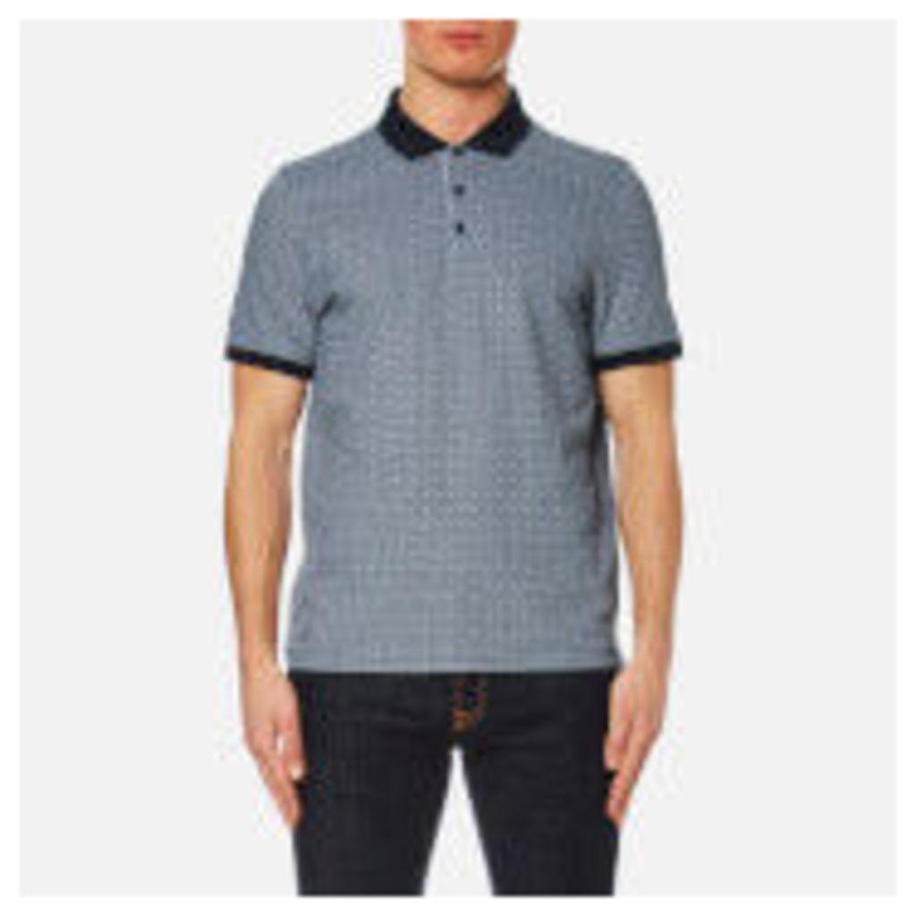 Michael Kors Men's Grid Birdseye Polo Shirt - Midnight - XXL