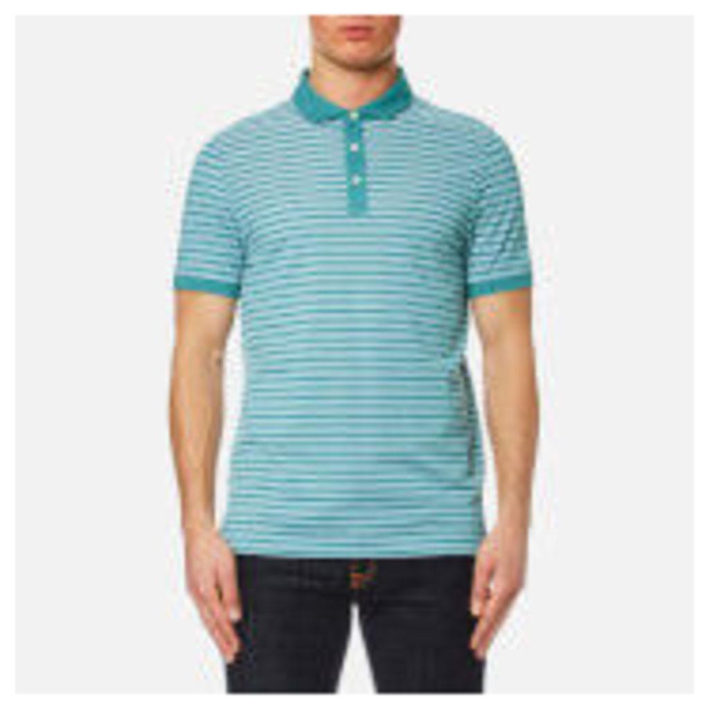 Michael Kors Men's Birdseye Stripe Polo Shirt - Lagoon - XXL