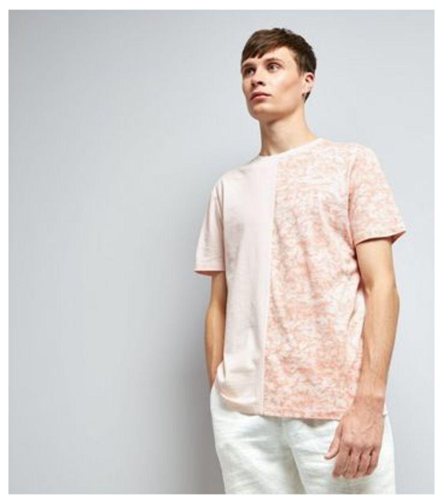 Pink Spliced T-Shirt