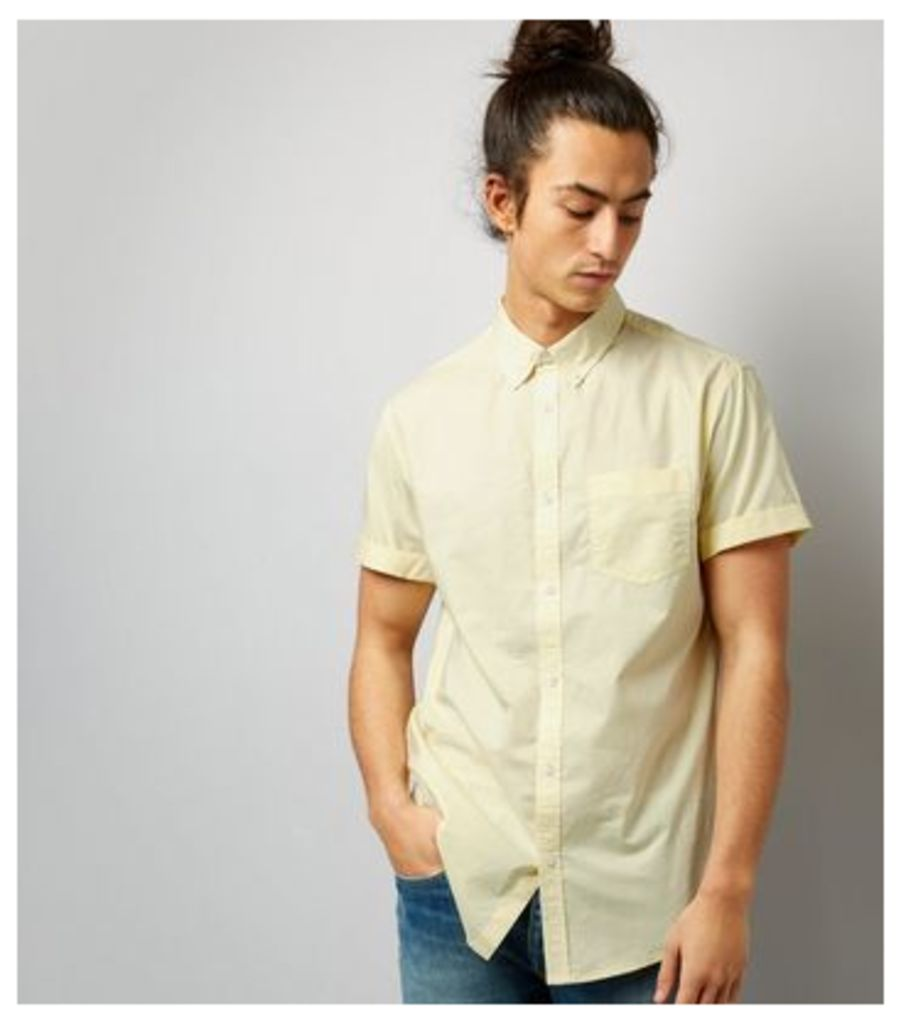 Yellow Cotton Short Sleeve Shirt