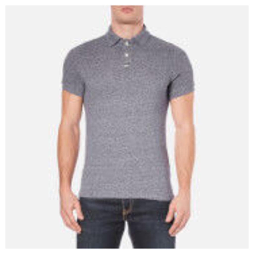 Superdry Men's Classic Grindle Pique Short Sleeve Polo Shirt - Navy Grit Grindle - XXL