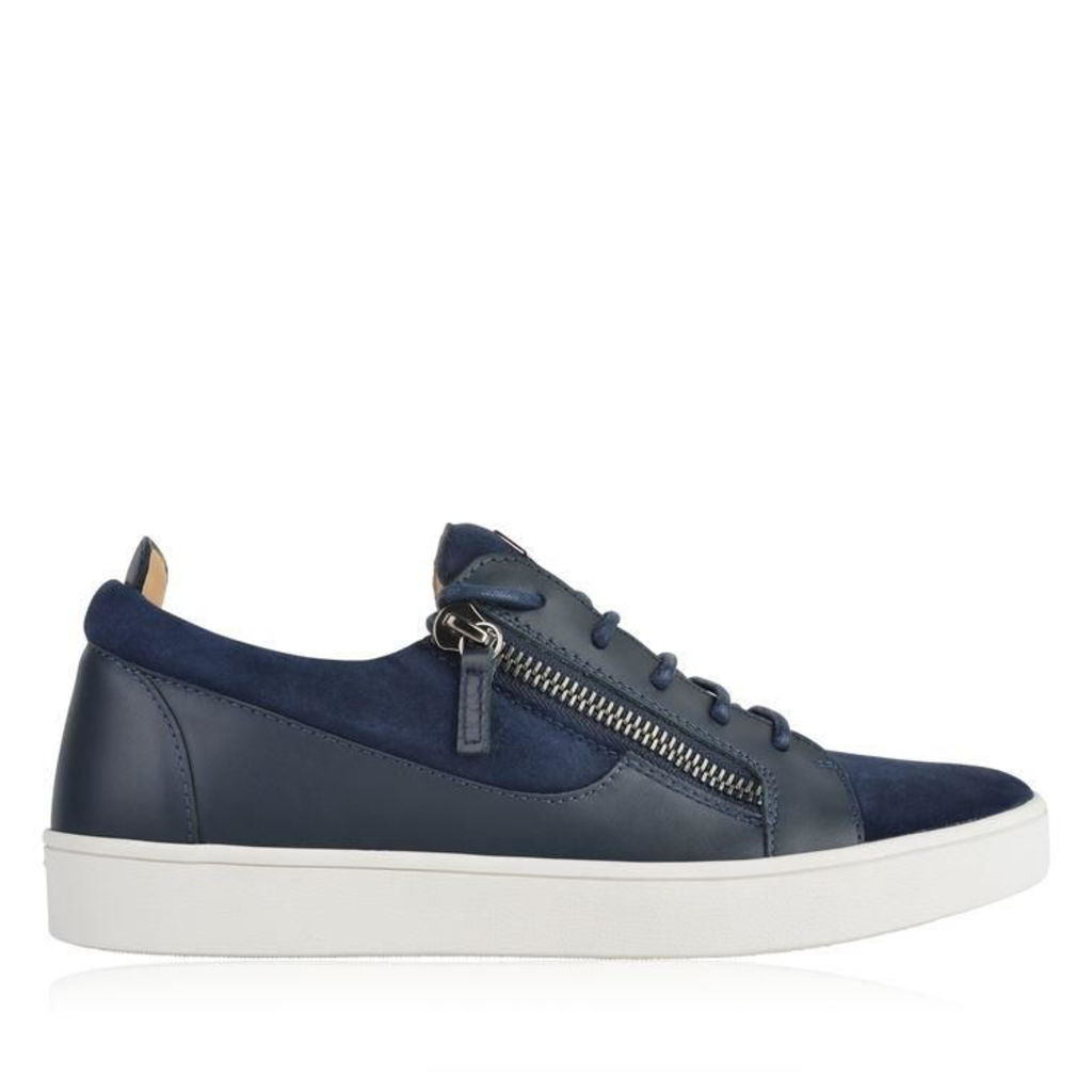 GIUSEPPE ZANOTTI Suede And Leather Brek Trainers