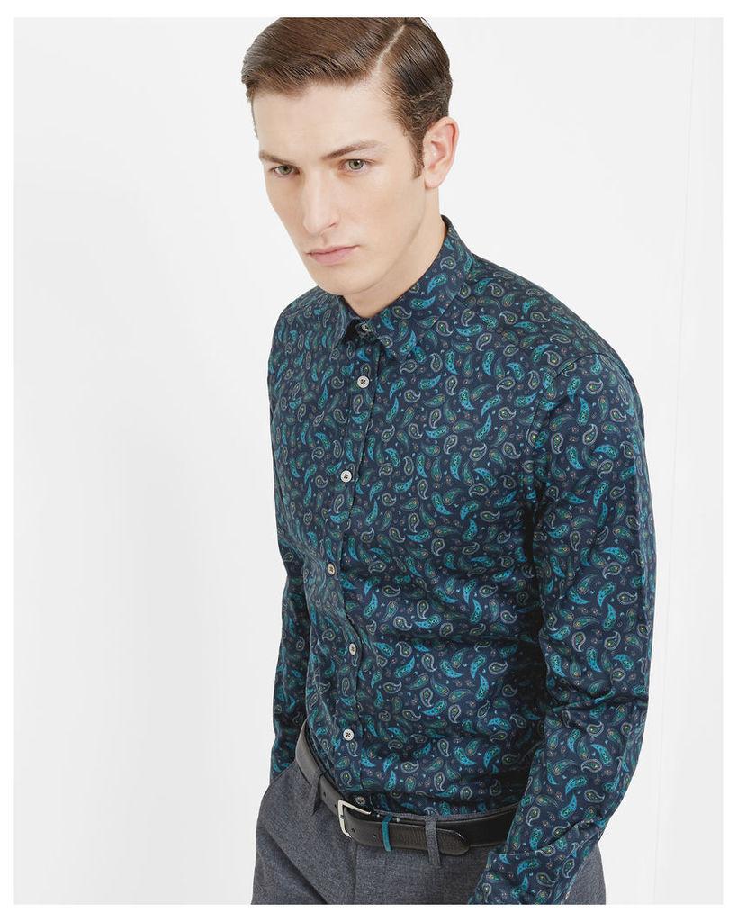 Ted Baker Paisley print shirt Navy