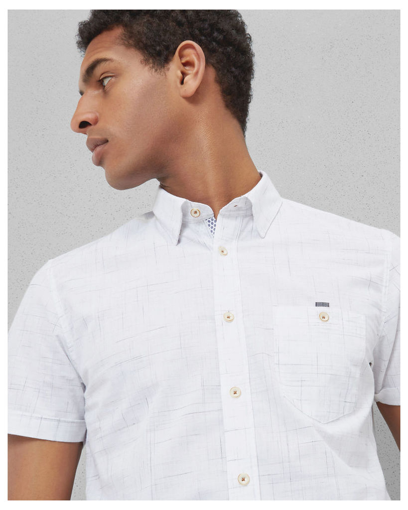 Ted Baker Checked cotton shirt White
