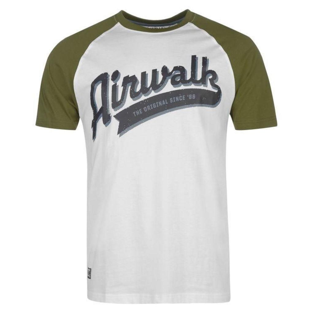 Airwalk Raglan T Shirt Mens