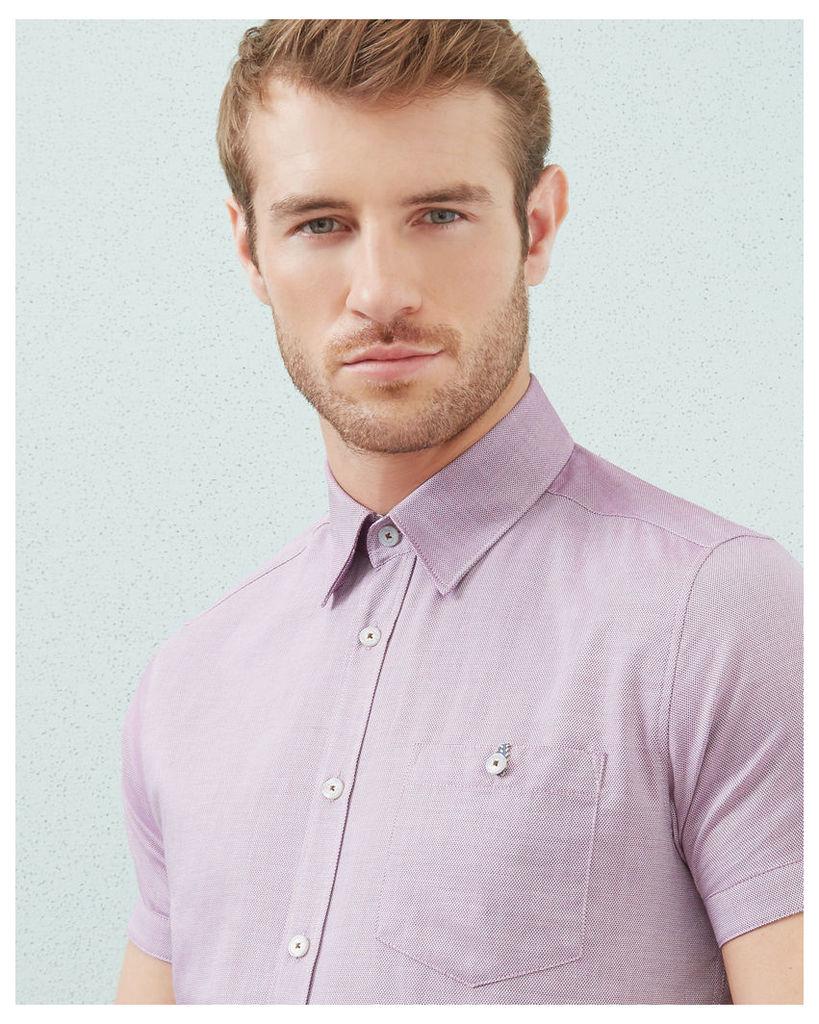 Ted Baker Textured cotton shirt Purple