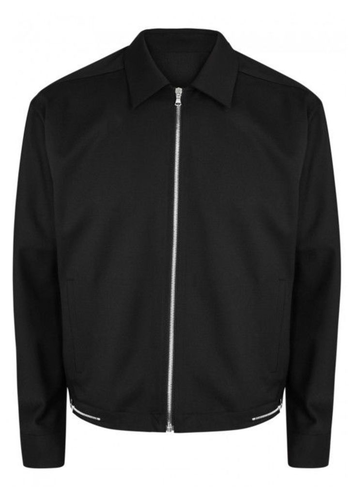 Solid Homme Black Stretch Wool Jacket - Size 38