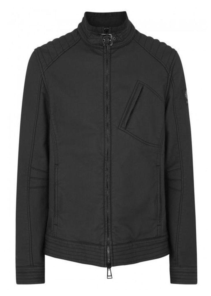 Belstaff Black Coated Cotton Jacket - Size 44