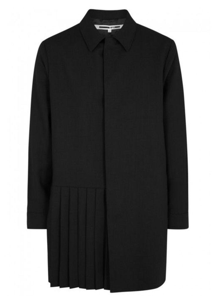 McQ Alexander McQueen Kilt Black Pleated Wool Jacket - Size 38