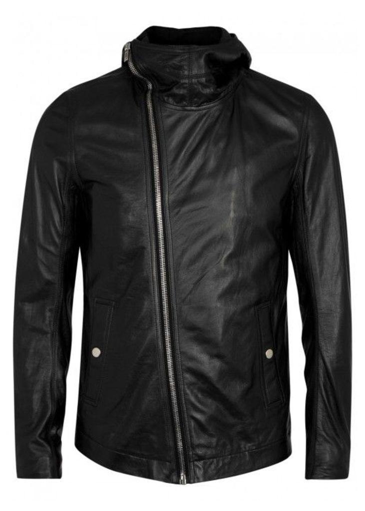 Rick Owens Bullet Black Leather Jacket - Size 38
