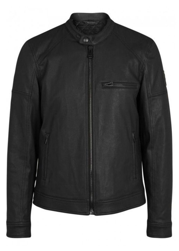 Belstaff Beckford Coated Cotton Biker Jacket - Size 38
