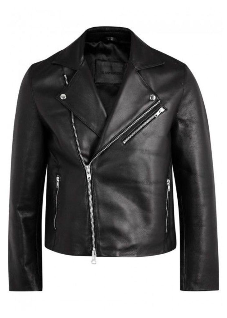 MKI MIYUKI ZOKU Black Leather Biker Jacket - Size XL