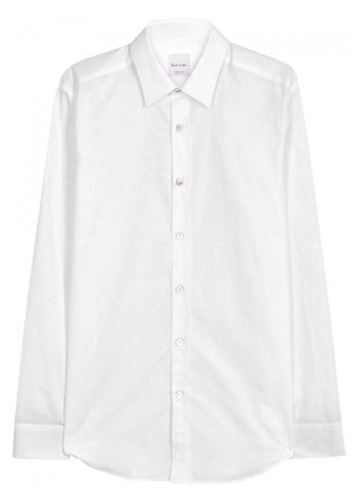 Paul Smith The Byard Floral-jacquard Cotton Shirt - Size 16.5