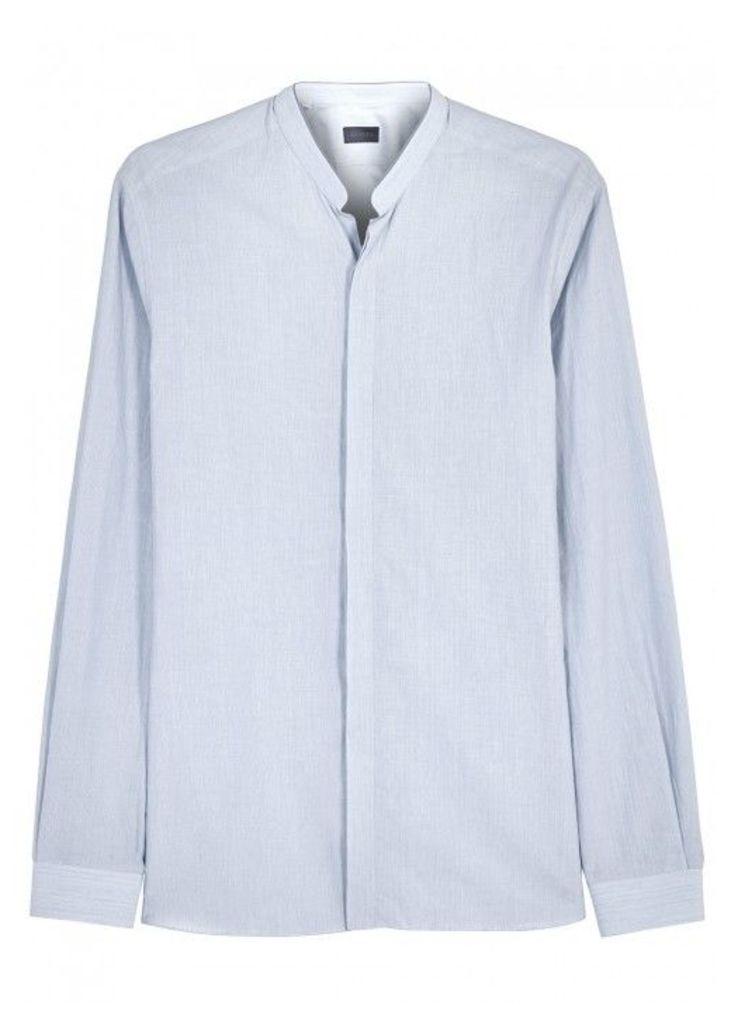 Lanvin Blue Pinstriped Cotton Shirt - Size 15