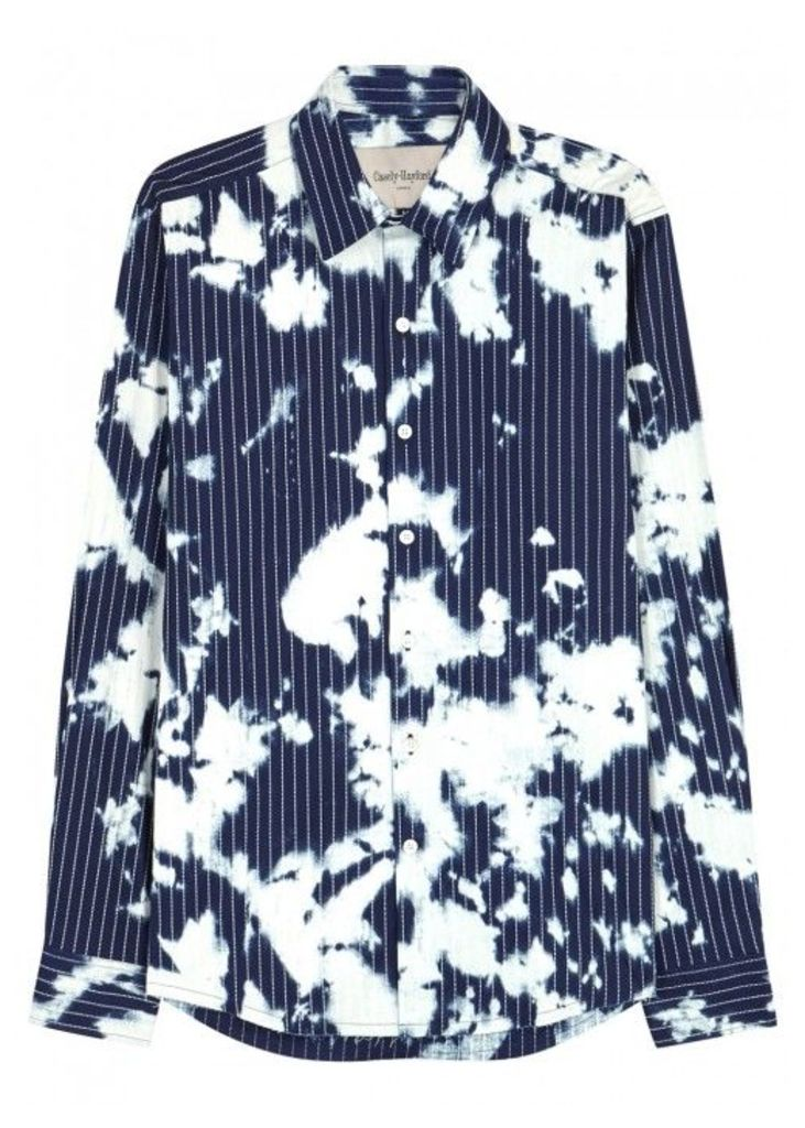 Casely-Hayford Indigo Bleach-print Cotton Shirt - Size M