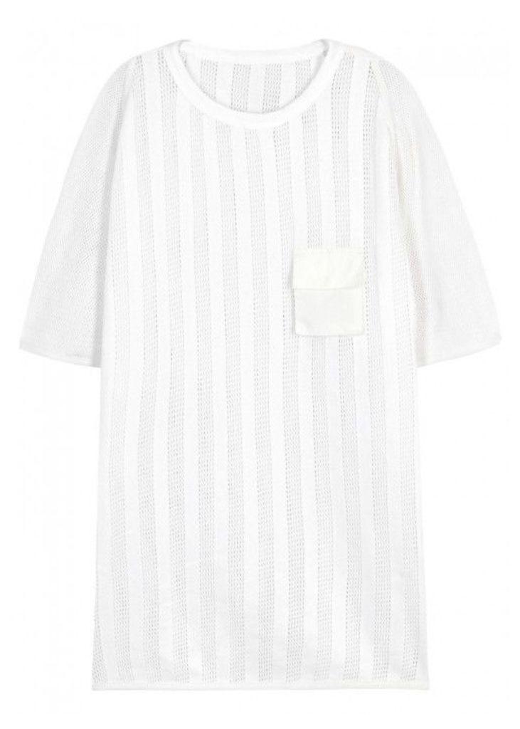Maharishi Cote Striped Cotton Mesh T-shirt - Size M