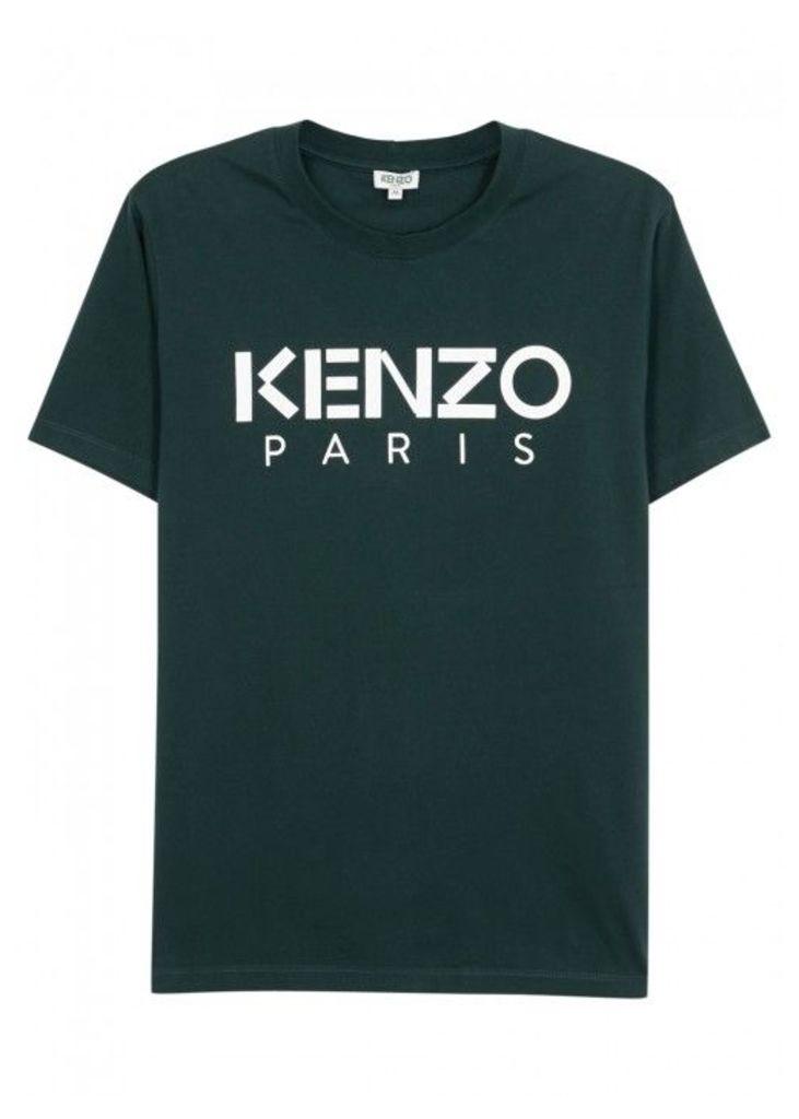 KENZO Green Designer-stamped Cotton T-shirt - Size XS