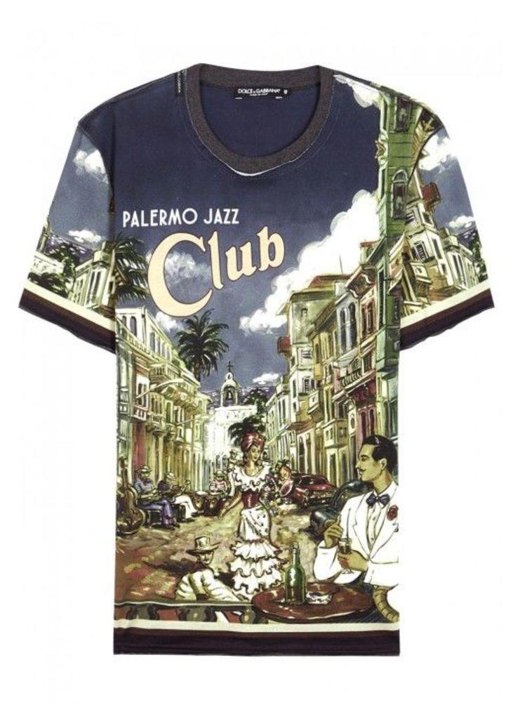 Dolce & Gabbana Printed Cotton T-shirt - Size 38