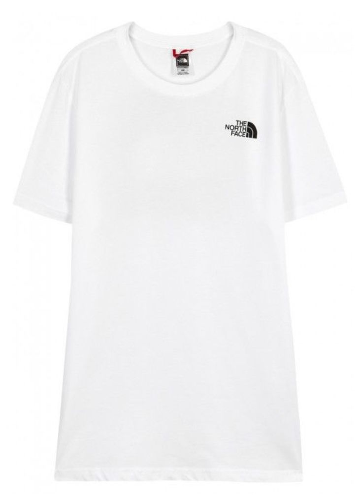 The North Face Mountain White Printed Cotton T-shirt - Size L