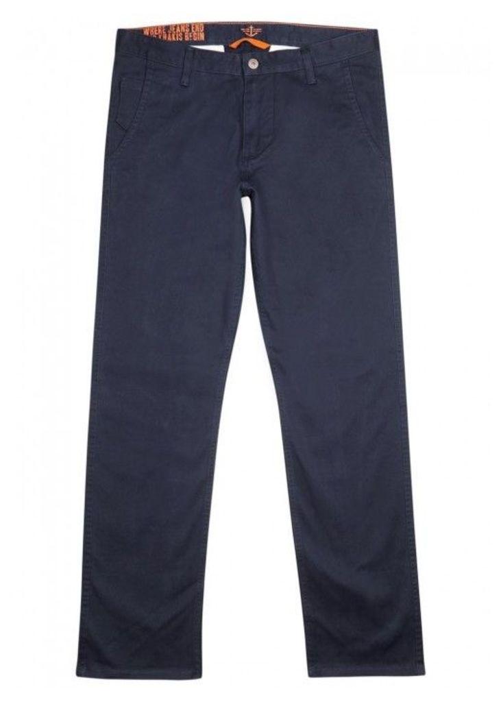 Dockers Alpha Dark Blue Stretch Cotton Trousers - Size W34/L34