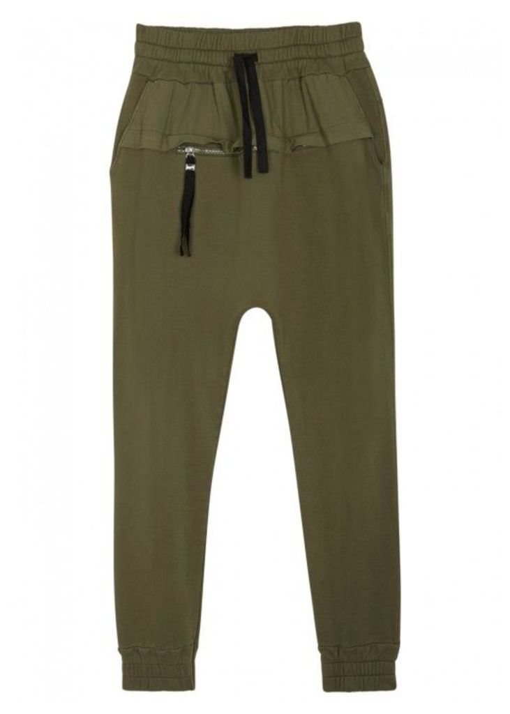 Blood Brother Rutland Olive Cotton Jogging Trousers - Size S