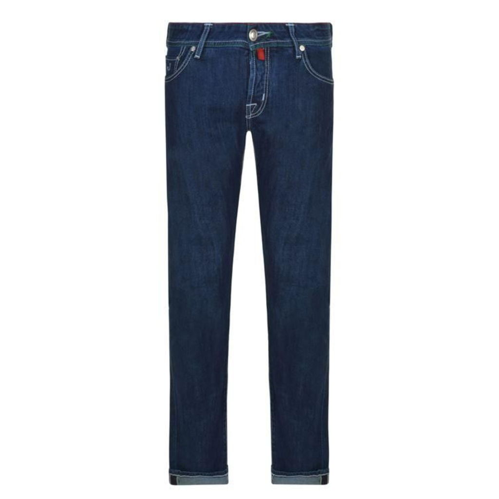JACOB COHEN Slim Fit Embroidery Badge Jeans