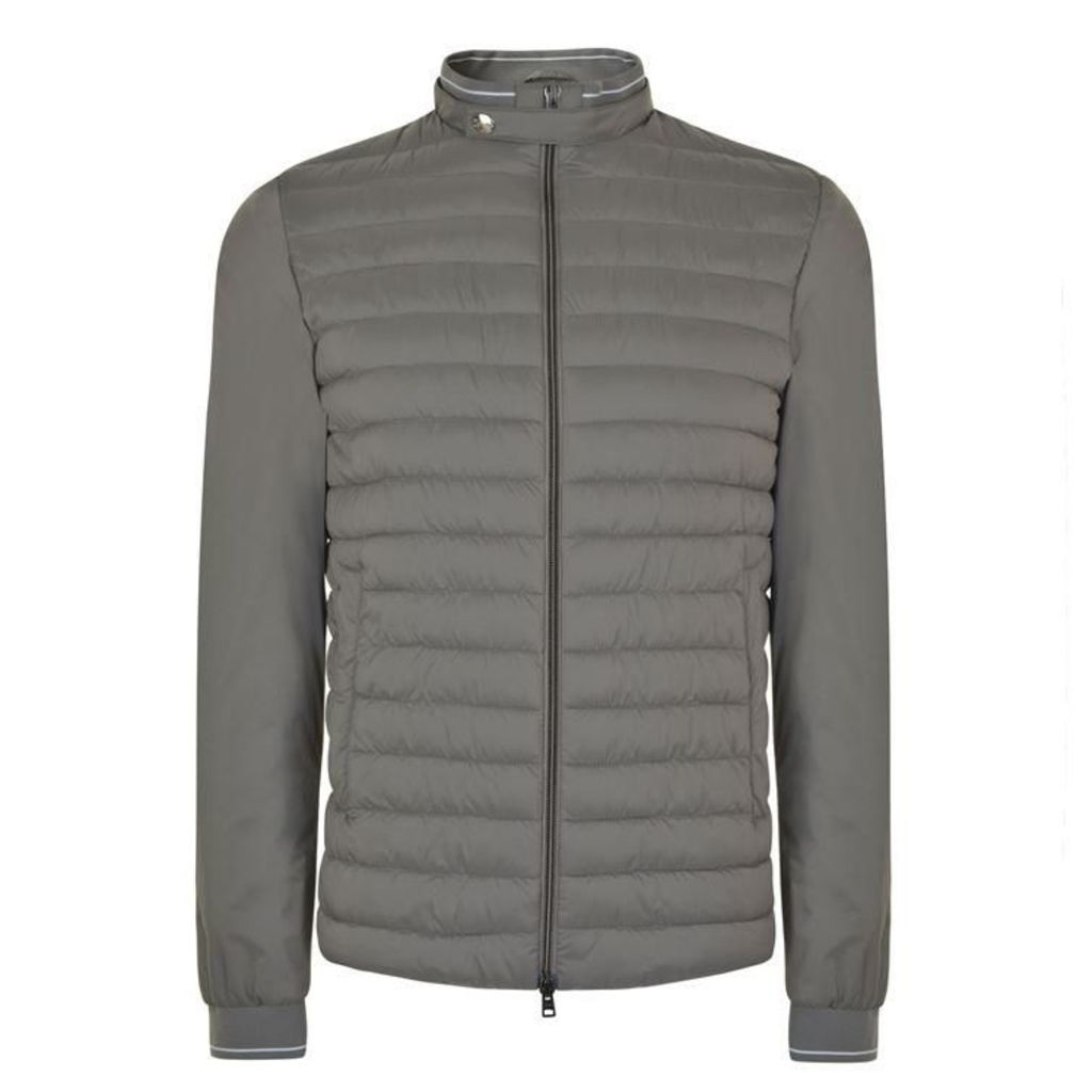 HERNO Pipe Trim Quilted Jacket