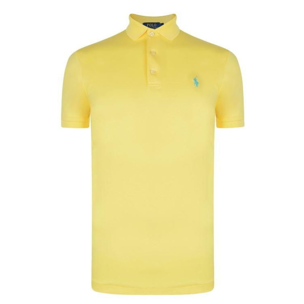 POLO RALPH LAUREN Slim Pima Short Sleeve Polo Shirt