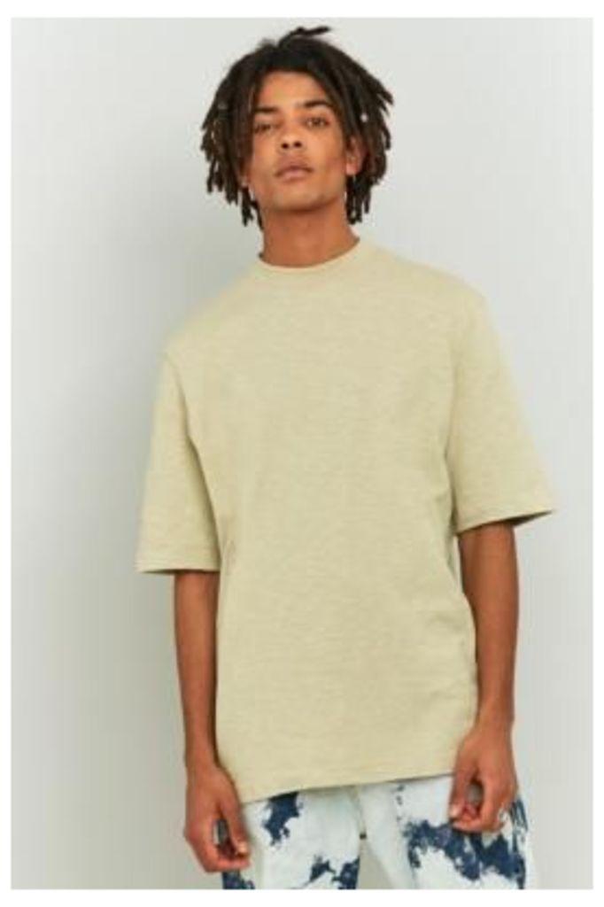Shore Leave Stone Slub High Neck T-shirt, NEUTRAL