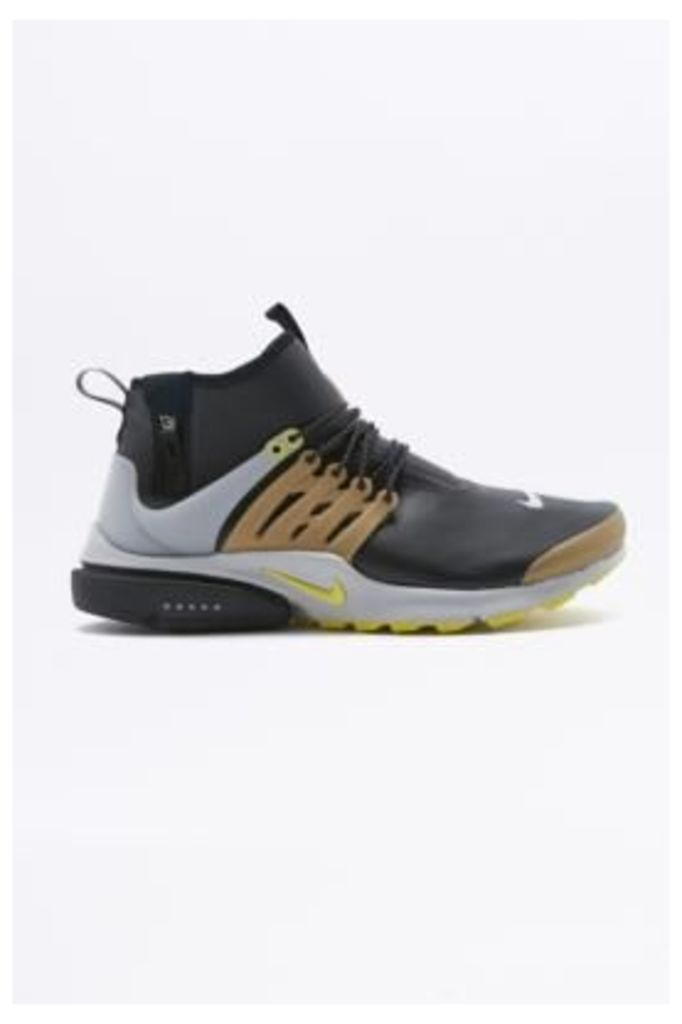 Nike Air Presto Mid Utility Black and Beige Trainers, BLACK