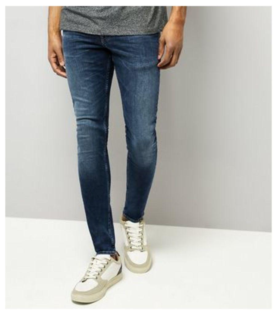 Blue Washed Skinny Stretch Jeans