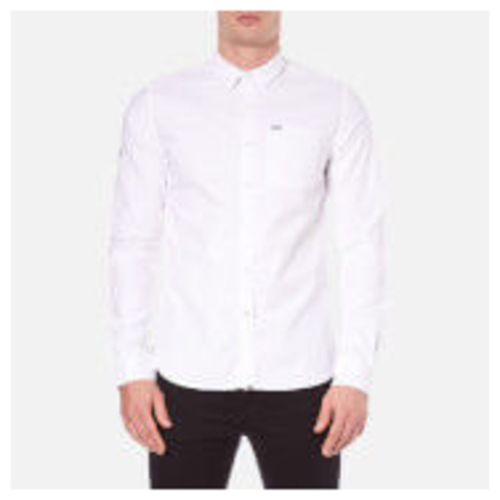 Superdry Men's Academy Oxford Long Sleeve Shirt - Optic White - L