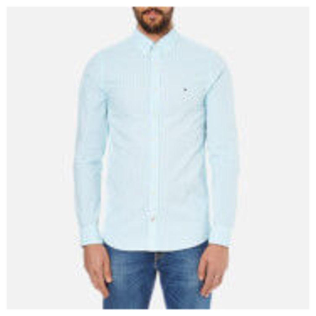 Tommy Hilfiger Men's Seersucker Long Sleeve Shirt - Blithe/Classic White - XL